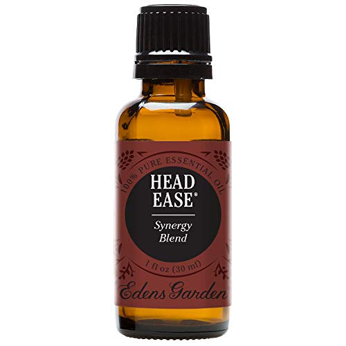 Edens Garden Head Ease 30 ml 100% Pure Therapeutic Grade GC/MS Tested (Lavender, Peppermint, Rosemary, Frankincense, Basil, Chamomile, Ginger, Spearmint, Helichrysum)