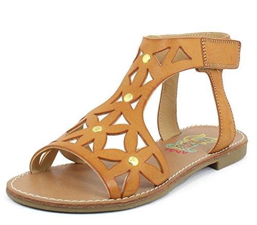 Price comparison product image Rachel Shoes Girls Delmar Tan Synthetic Sandals 5 M US Big Kid