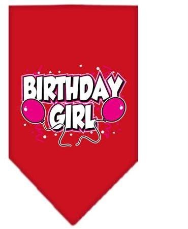 Birthday girl Screen Print Bandana Red Large Case Pack 24 Birthday girl Scree... by DSD