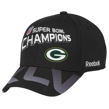 Reebok Green Bay Packers Super Bowl XLV Champions Trophy Collection Hat One Size Fits -