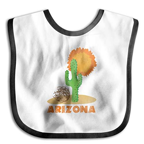 Wonalissy Kid's Boys and Girls Arizona Scene Ultra Soft Baby Feeder Bib One Size Black for $<!--$15.99-->