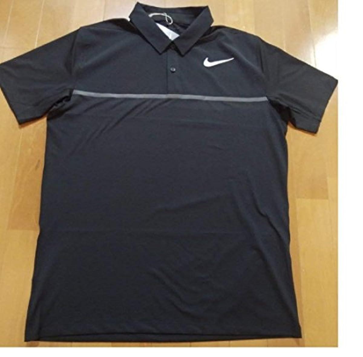 [해외] NIKE 나이키 DRI-FIT 골프 웨어 반소매 폴로 셔츠 엘사이즈(176-183CM) 국내 정규품 833108 블랙