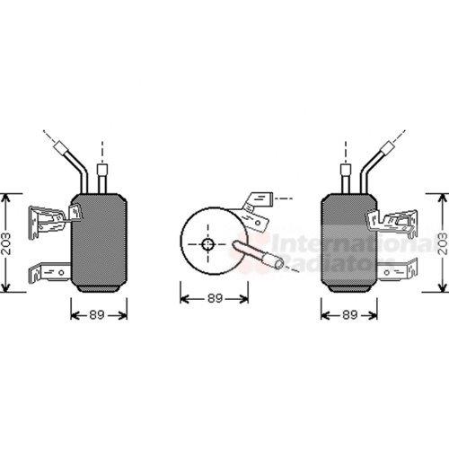 VAN WEZEL 1800D312 Trockner Klimaanlage