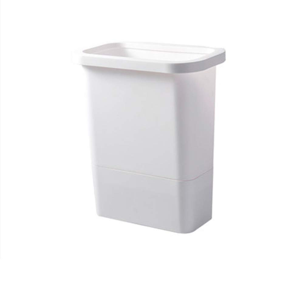 Yxian Office Fashion Home Without Cover Wall-Mounted Trash Can Thick Plastic Cabinet Storage Bucket Kitchen Living Room,B,26x30x16.5cm(10x12x6)