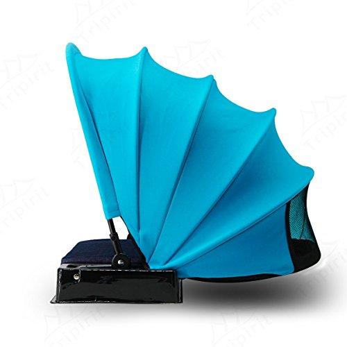 Tripirit Portable Sun Shade Canopy - Small Sun Beach Shader Beach Shelter, Sun Protection for Face while Sunbathing - Blue