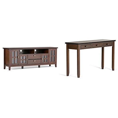 """Simpli Home Artisan Wide TV Media Stand for TVs up to 80"""", M"""