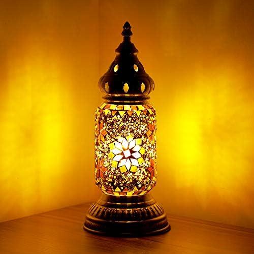 Marrakech Turkish Table Lamp Mosaic Glass Decorative Room Desk Lamp Night Light