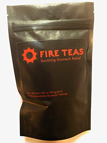 FIRE TEAS - Soothing Stomach Relief - Helps IBS Symptoms, Bloating & Indigestion - Organic Chamomile, Organic Peppermint, Organic Fennel, Ginger - Anti-Inflammatory & Assists Digestion - Made in Washington, USA.