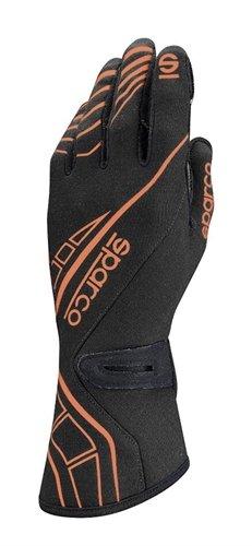 (Sparco Men's Glove (Lap RG-5) (Black/Orange, Large) )
