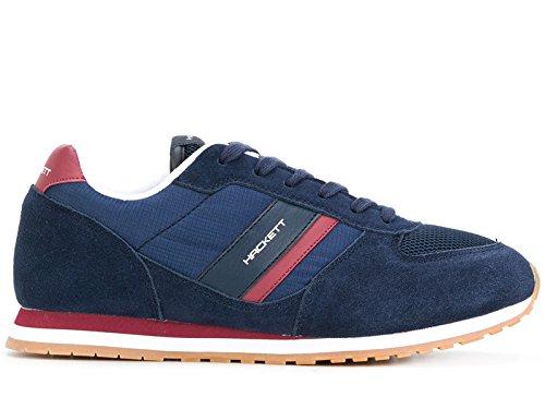 Hackett Herren HMS20662595 Blau Leder Sneakers