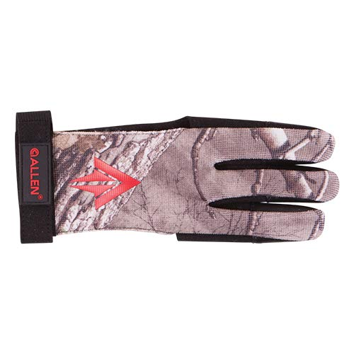 Allen Traditional 3 Finger Archery Glove, Realtree Xtra