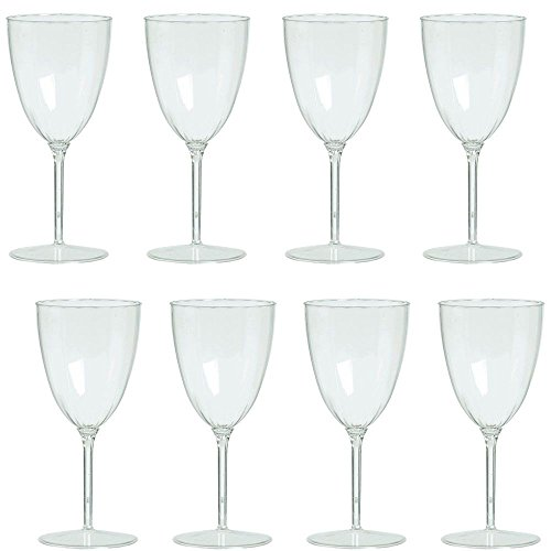 Stem Wine Goblet (Wine Goblets 8Oz Premium Plastic (8 Pack) - Party Supplies)
