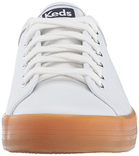 Sneaker Di Moda In Pelle Bianca Kate Kickstart Keds Donna / Gomma