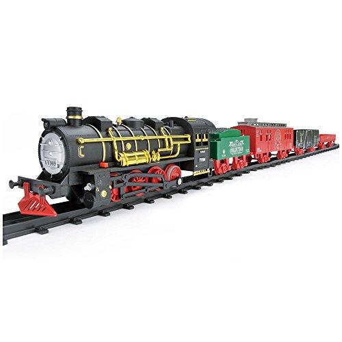 Jumbo Rocky Mountain Classic Train Set Toy Smoke Lights Sound Battery Operated
