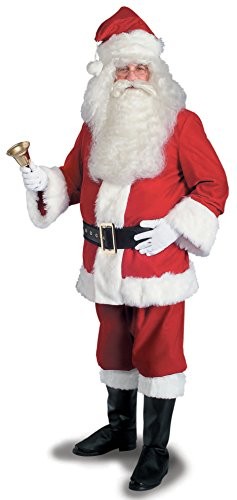 Rubie's Super Deluxe Velvet Santa Suit, Red/White, - Suit Santa Red Velvet