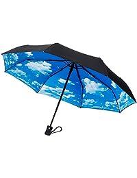 CrownCoast Heavy Duty Auto Open/Close Travel Umbrella, Windproof Up to 60 MPH Winds, Frame Won't Break if Flipped Inside/Outside