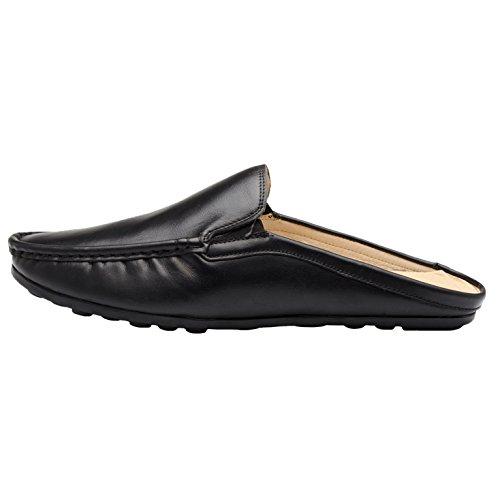 Pantofole Uomo Pantofola In Pelle Scamosciata Uomo Santim Slip-on Scarpe Nero