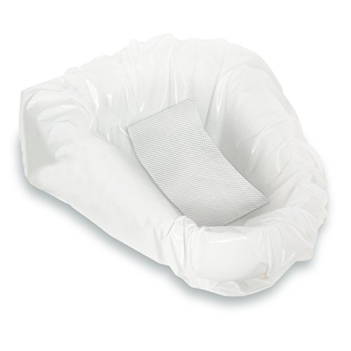 (Zorbi Biodegradable Commode and Bedpan Liner Bags with Super Absorbent Pads, White, 0.09 Pound)
