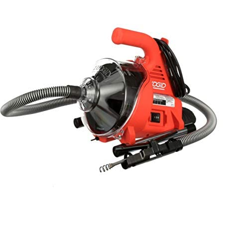 Image of Home Improvements Ridgid 55808 PowerClear Drain Cleaning Machine 120V Drain Cleaner Cleans Tub, Shower or Sink Blockages from 3/4' to 11/2' diameter, Red