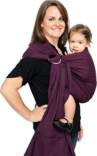 Maya Wrap ComfortFit Ring Sling & Baby Carrier - Plum - Medium (Maya Wrap Slings)