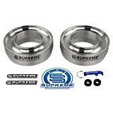 Supreme-Suspensions--2WD-Dodge-Ram-1500-Leveling-Kit-2-Front-Lift-Aircraft-Billet-Coil-Spring-Spacers-Silver