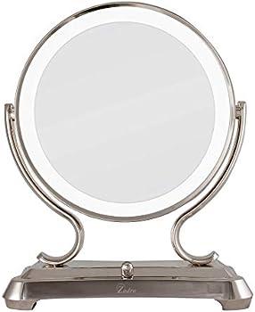 Zadro Polished Nickel Surround Light Dual Sided Glamour Vanity Mirror