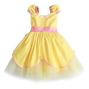 JiaDuo Baby Girls Princess Sofia Dress Belle Costume Aurora Dress Up Clothes