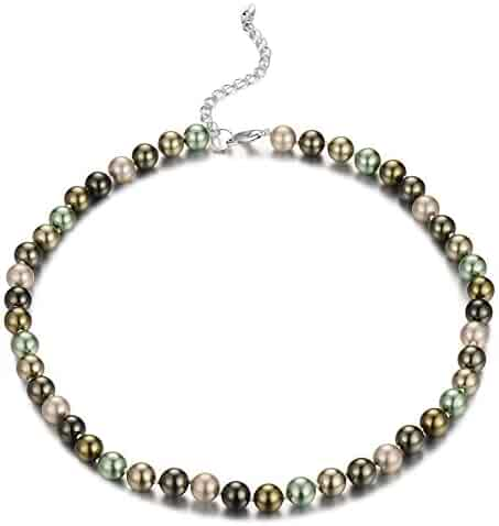 fcb4e1360 Bulinlin Beaded Strand Pearl Choker Necklace - Fashion Jewelry Birthday  Gifts for Women Girls