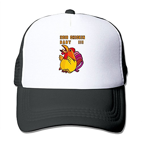 CLICKEN Unisex 2018!Chicken Baby Adjustable Summer Mesh Cap Black