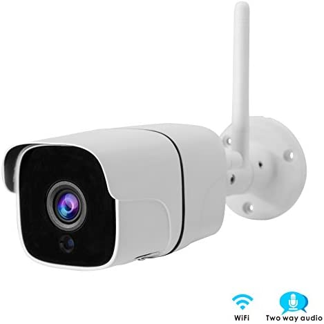 Inwerang 1080P WiFi IP Bullet Security Camera, 2MP Onvif Network CCTV Camera, IP66 Waterproof Outdoor Indoor, 49ft IR Night Vision, Audio in Built-in Microphone , Support Max 64GB SD Card External