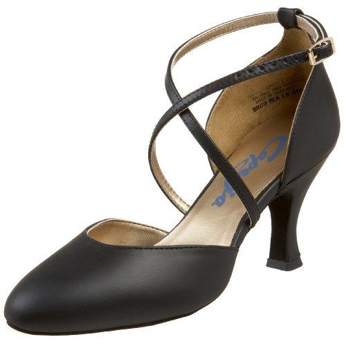 Capezio Womens BR09 X-Strap 2.5 Flared Heel Shoe Black wbEywCHWA