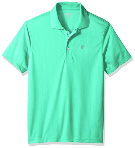 IZOD Men's Performance Golf Grid Short Sleeve Stretch Polo Shirt