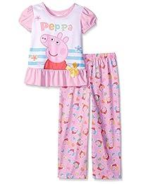 "Peppa Pig Little Girls' ""Piglet Ribbon"" 2-Piece Pajamas"