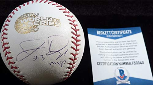Authentic Beckett Jermaine Dye Autographed Signed-Autographed Signed 2005 World Series Game Baseball 9340
