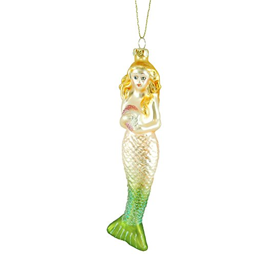 Glass Mermaid of the Sea Christmas Tree Ornament