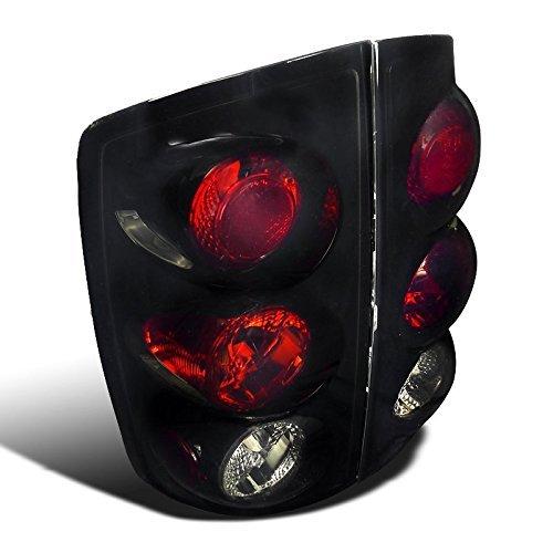 - Spec-D Tuning LT-RAM02BB-TM Glossy Black Dodge Ram 1500 2500 3500 Smoked Altezza Tail Brake Lights