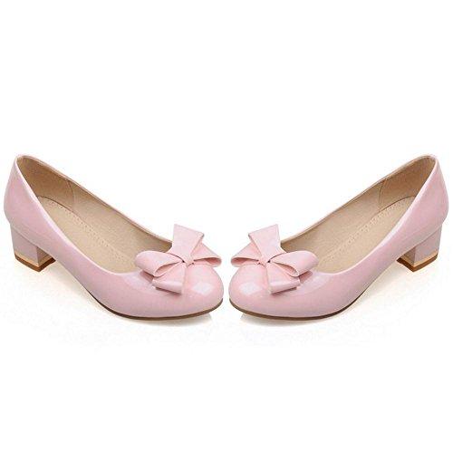 COOLCEPT Damenmode Slip Court Pink On Schuhe rrdaw7q
