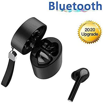Auricolari Bluetooth 5.0, Cuffie Senza Fili IPX5 Impermeabile Airpods AndroidiPhone Wireless Cuffie Sport con Microfono HDHi Fi 3D Stereo Sound,