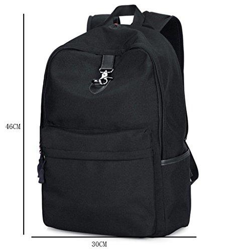 LWT - borsa a tracolla uomo a tracolla per il tempo libero studenti zaino borsa computer studenti studenti delle scuole superiori tendenza moda (30 * 46cm) (nero)