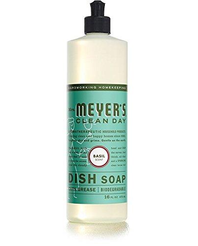 Mrs. Meyer's Clean Day Liquid Dish Soap - 16 oz - Basil - 2 pk