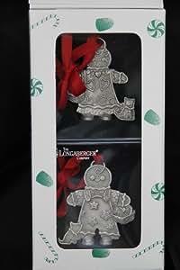 Roger Longaberger y jengibre estaño adornos de Navidad