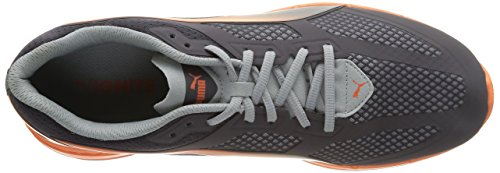 PUMA IGNITE Mesh - Zapatillas de running para hombre Blu (Blau (periscope-quarry-vermillion orange 03))