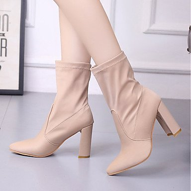 Pointed 5 Chunky Boots Comfort For Fall Women'S Boots UK5 RTRY Boots Champagne Leatherette Spring US7 Casual Heel Fashion 5 EU38 Shoes CN38 Toe Dress Mid Calf Pw8q1z