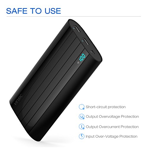potential Bank Vinsic 20000mAh good 2 USB Port lean lightweight Charger 10 bill Times for iPhone 5 5S External Battery Charger for iPhone 6 5S iPad Samsung Galaxy Cell handsets Tablets Popular selections