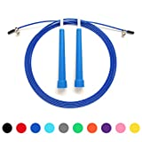 Jump Rope Adjustable 10 Ft Cable For Cross Training, CrossFit,Boxing , Fitness Training (Dark Blue) Review