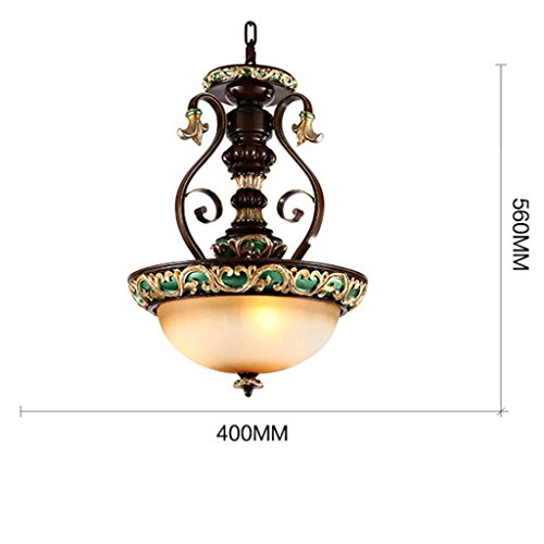 - Royal-European and American retro minimalist pastoral resin wrought iron chandelier