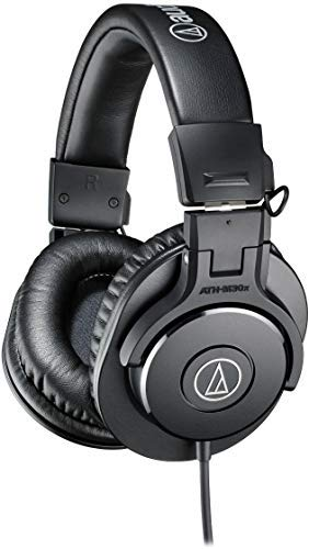 - Audio-Technica ATH-M30x Professional Studio Monitor Headphones, Black