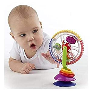MTSZZF Baby Ferris Wheel Roue Rotative Windmill Bell Toddler Jouer Jouets Enfant Enfants Jouets Spinning Wheel Suction Chair 2