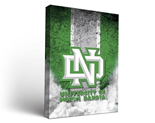 University of North Dakota UNDキャンバス壁アートヴィンテージデザイン 36x36  B0106FU4C2