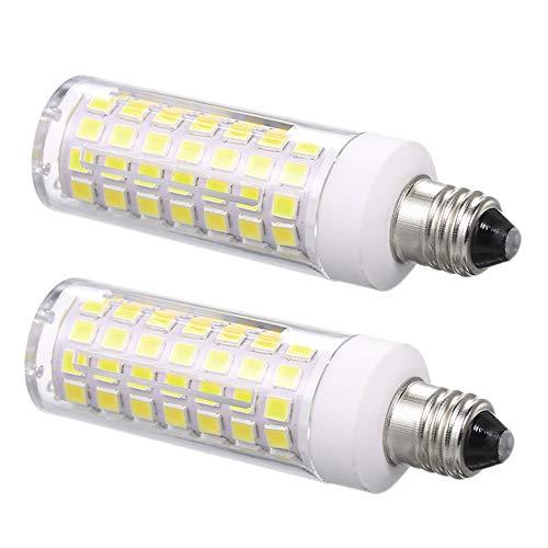 E11 led Light Bulb 100W 150W Halogen Bulbs Equivalent 1000lm, t4 JD e11 Mini Candelabra Base 110V 120V 130V Input 100W Halogen Replacement, Pack of 2 (Daylight White 6000K)